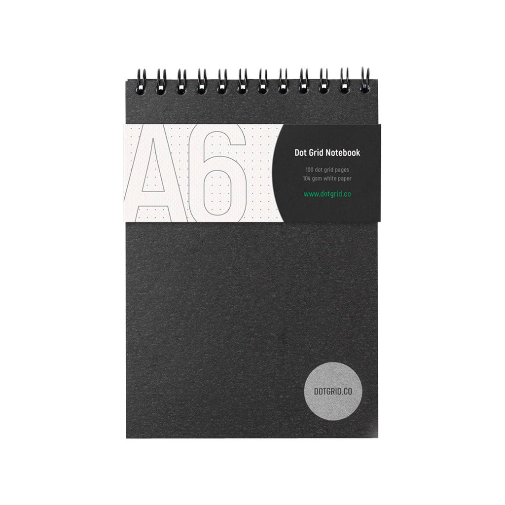 A6 Dot Grid Notebook - White Pages