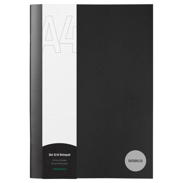 A4 Dot Grid Notepad - White Pages