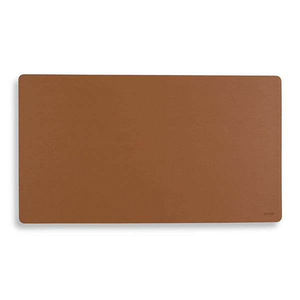 Vegan Leather Desk Mat - Tawny Brown