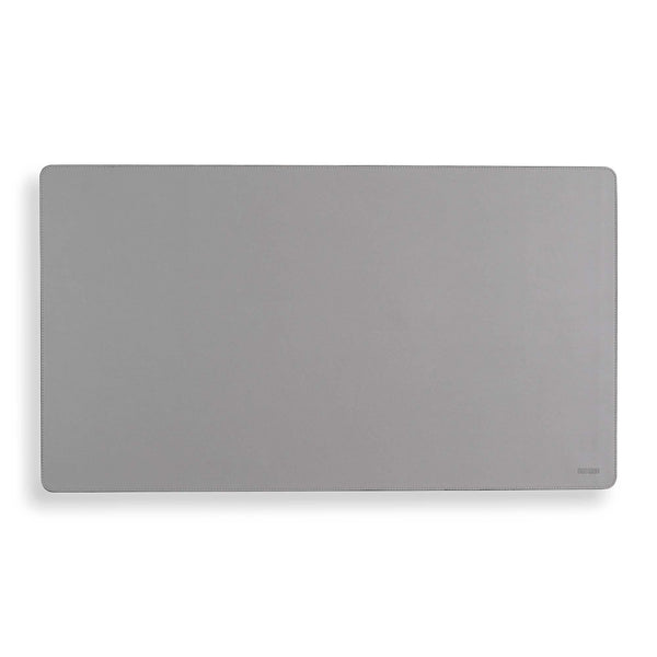 Vegan Leather Desk Mat - Pearl Grey