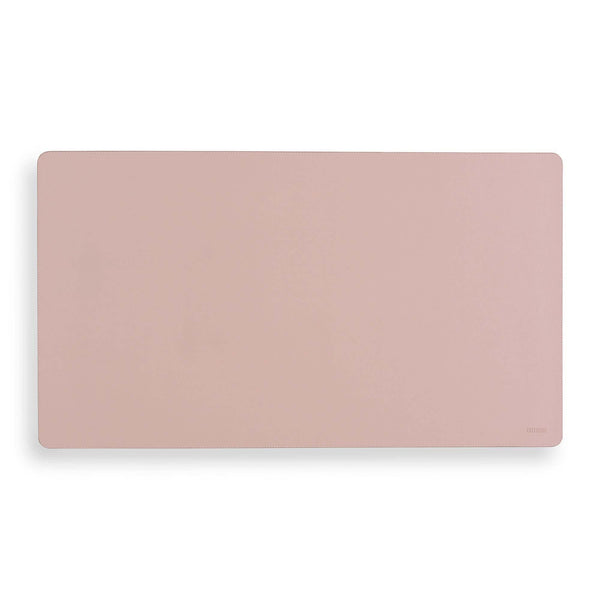 Vegan Leather Desk Mat - Blush Pink