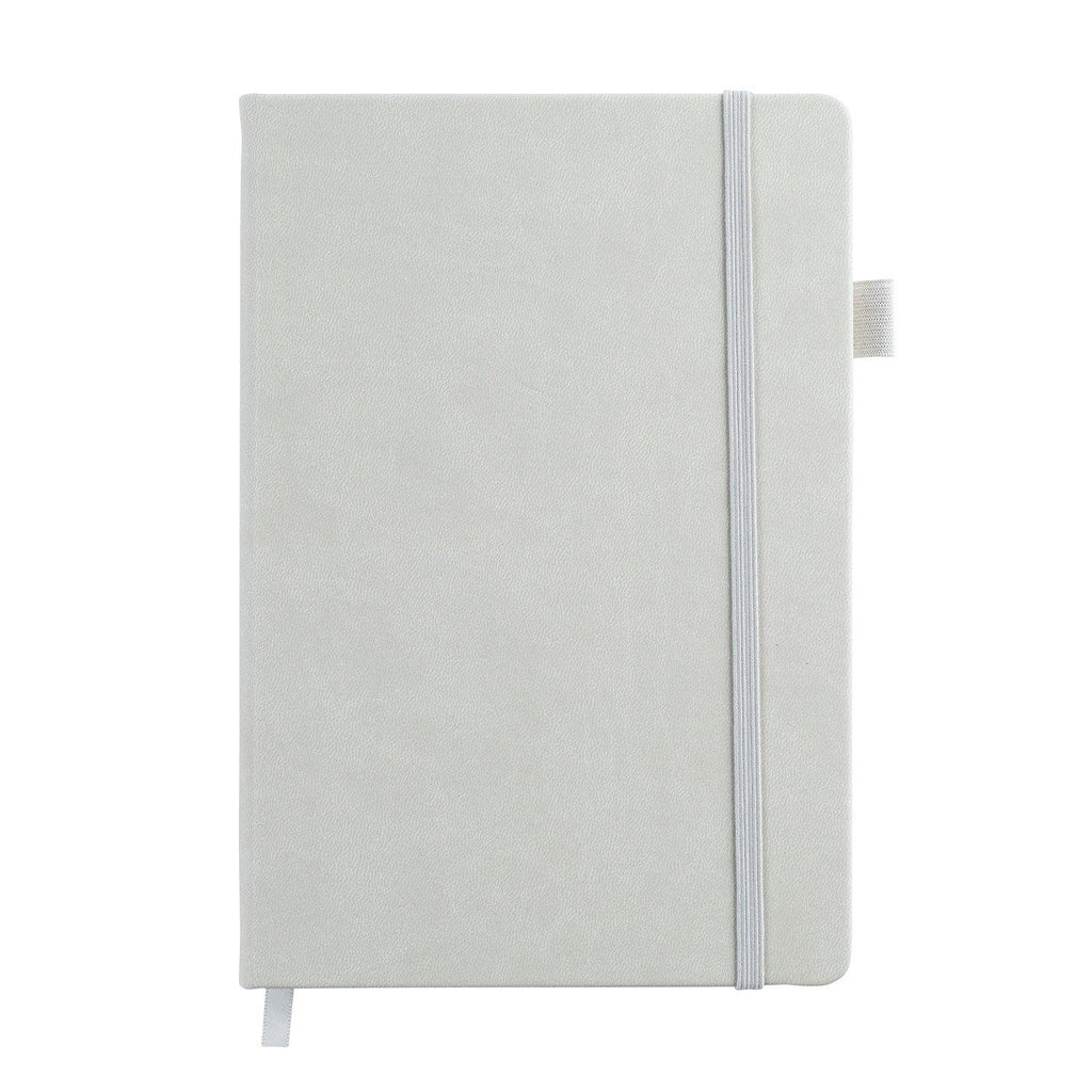 A5 Dot Grid Journal - Grey Cover, Ivory White Pages