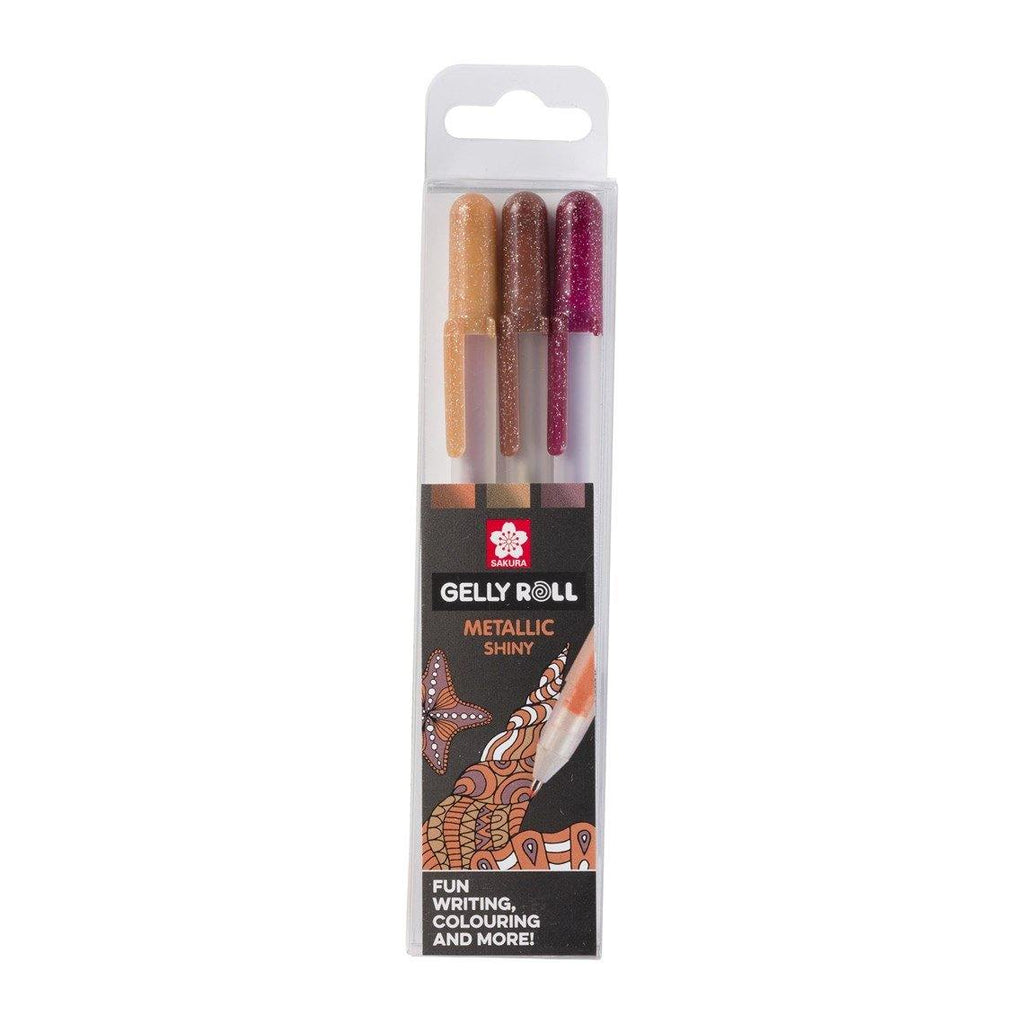 Sakura Gelly Roll Gel Pens - Metallic Nature, 3 Pack