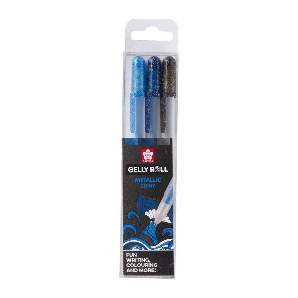 Sakura Gelly Roll Gel Pens - Metallic Ocean, 3 Pack