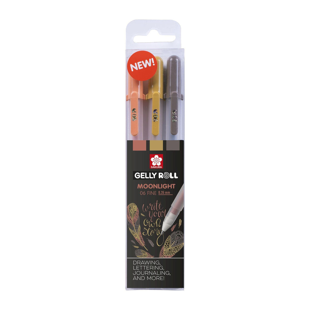 Sakura Gelly Roll Gel Pens - Moonlight 06 Nature, 3 Pack