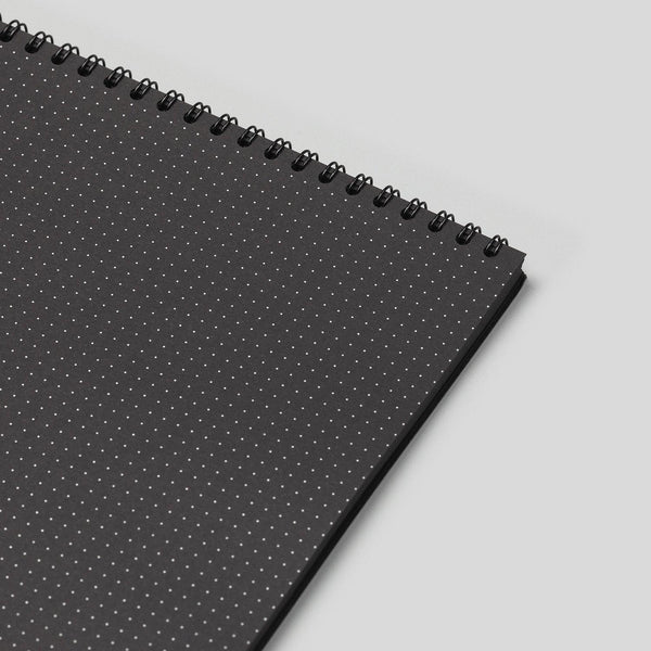 A3 Dot Grid Notebook - Black Pages