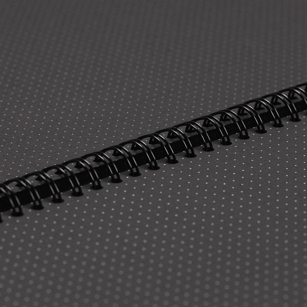 A4 Dot Grid Notebook - Black Pages