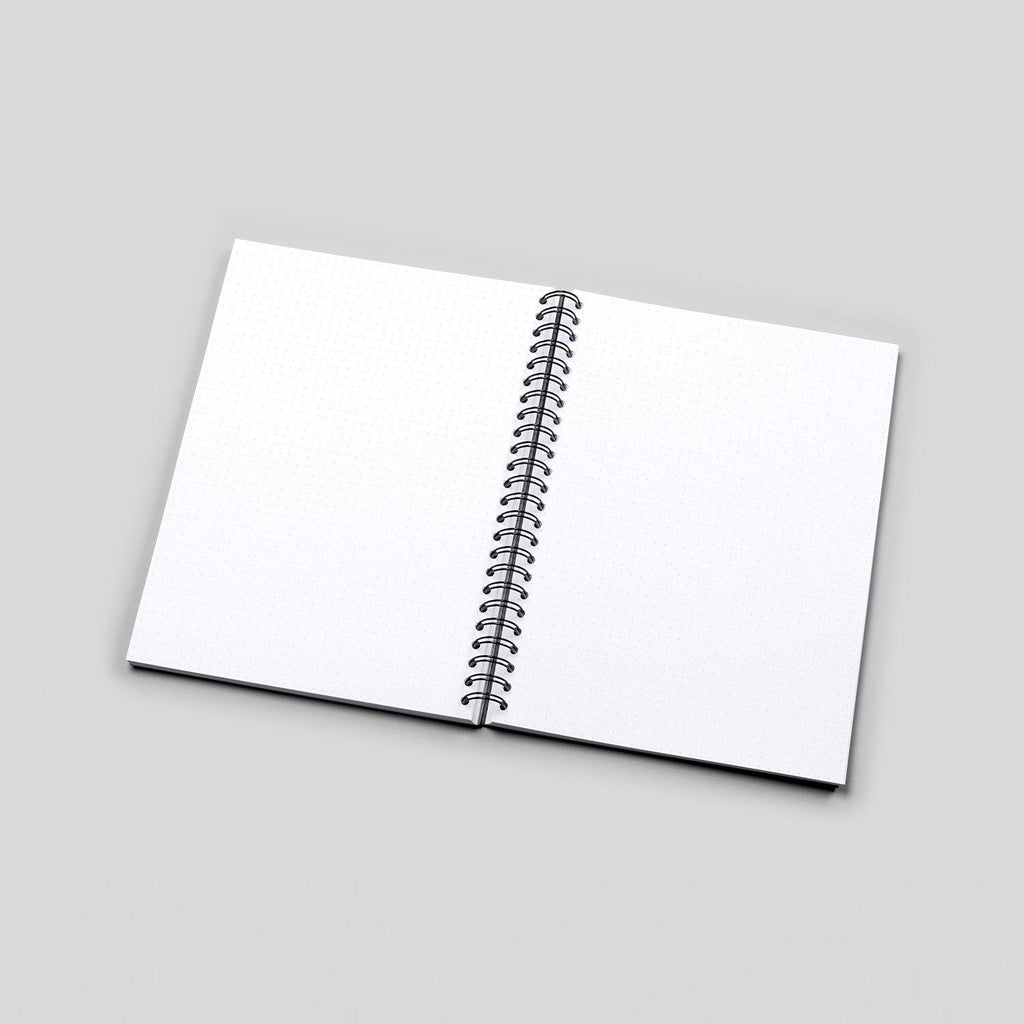 A5 Royal Palms White Dot Grid Notebook - White Pages