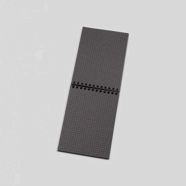 A6 Dot Grid Notebook - Black Pages