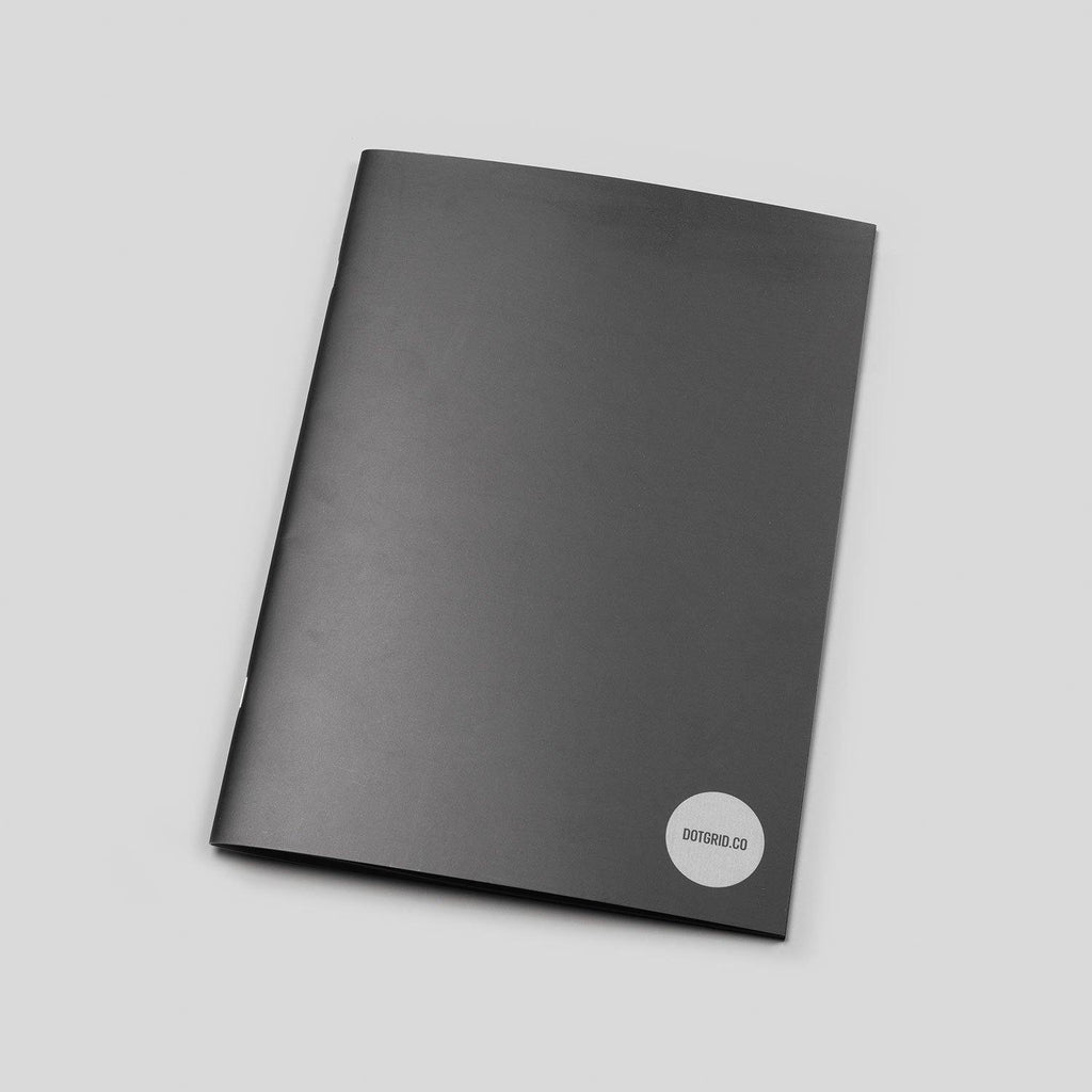 A4 Dot Grid Notepad - Black Pages
