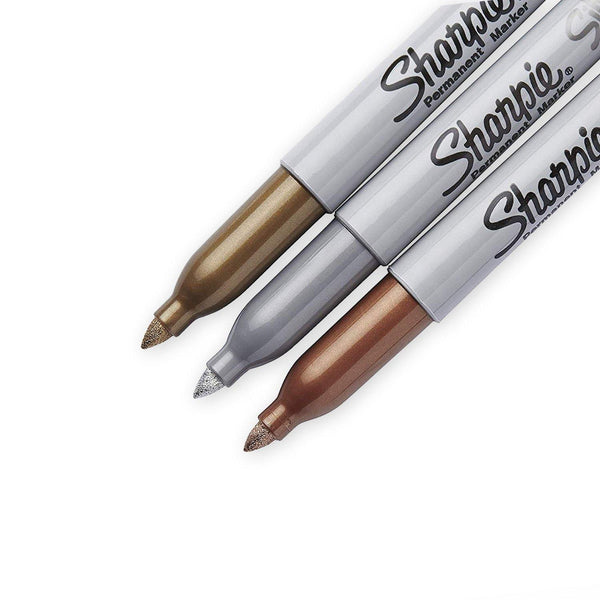 Sharpie Fine Point Markers - Metallic Metals, 3 Pack