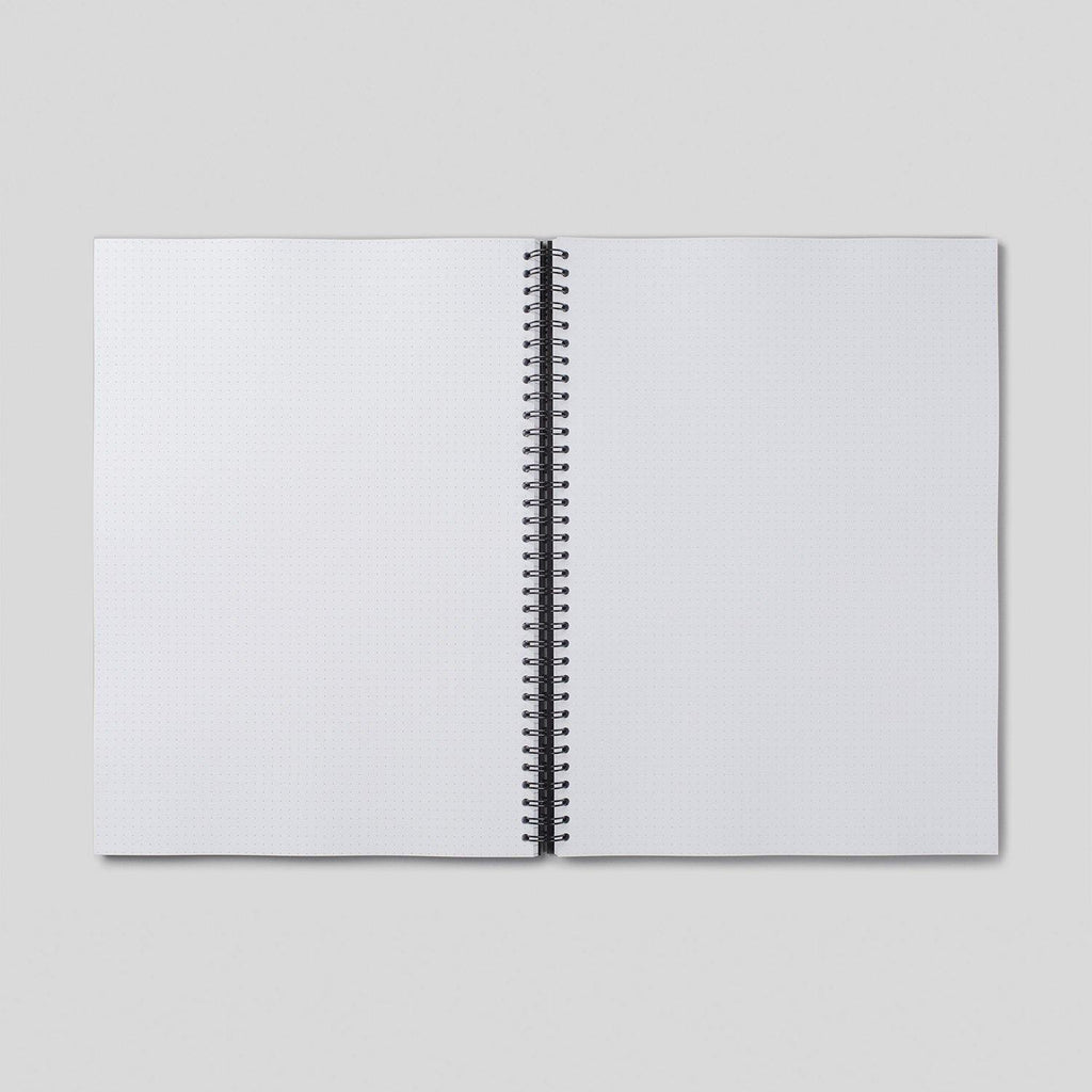 A4 Dot Grid Notebook - White Pages