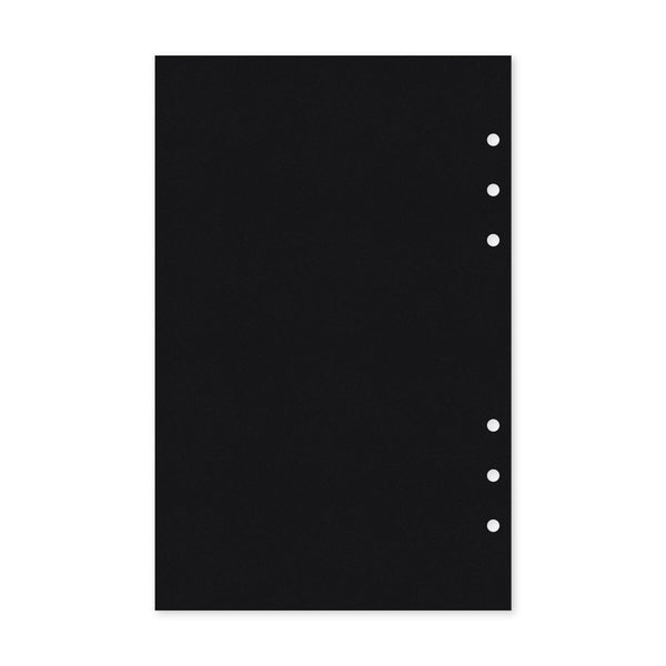 Blank Black - Planner Inserts, Size M