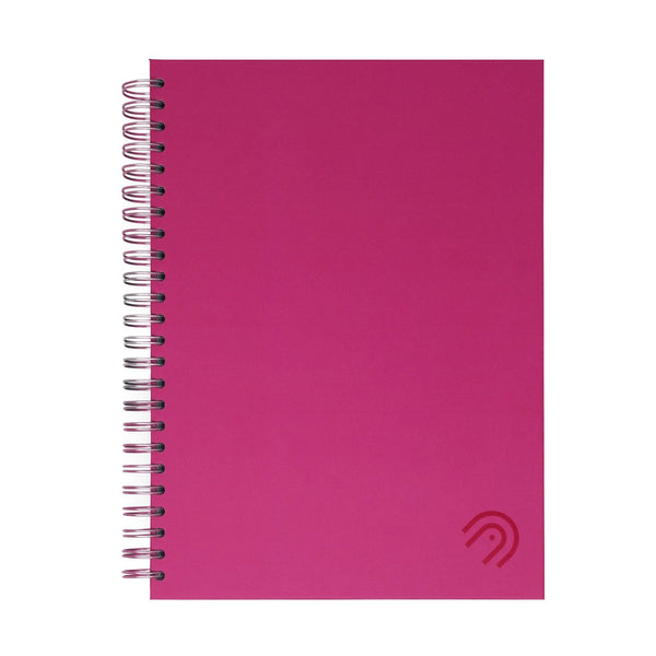 Hard Cover A5 Dot Grid Notebook - Hot Pink
