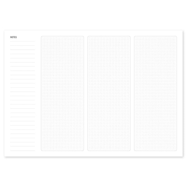 A4 Mobile Wireframing Pad - White