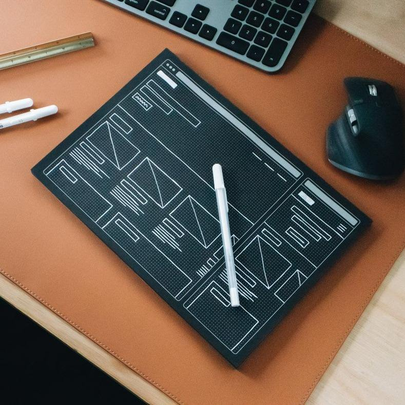 A4 Responsive Web Wireframing Pad - Black