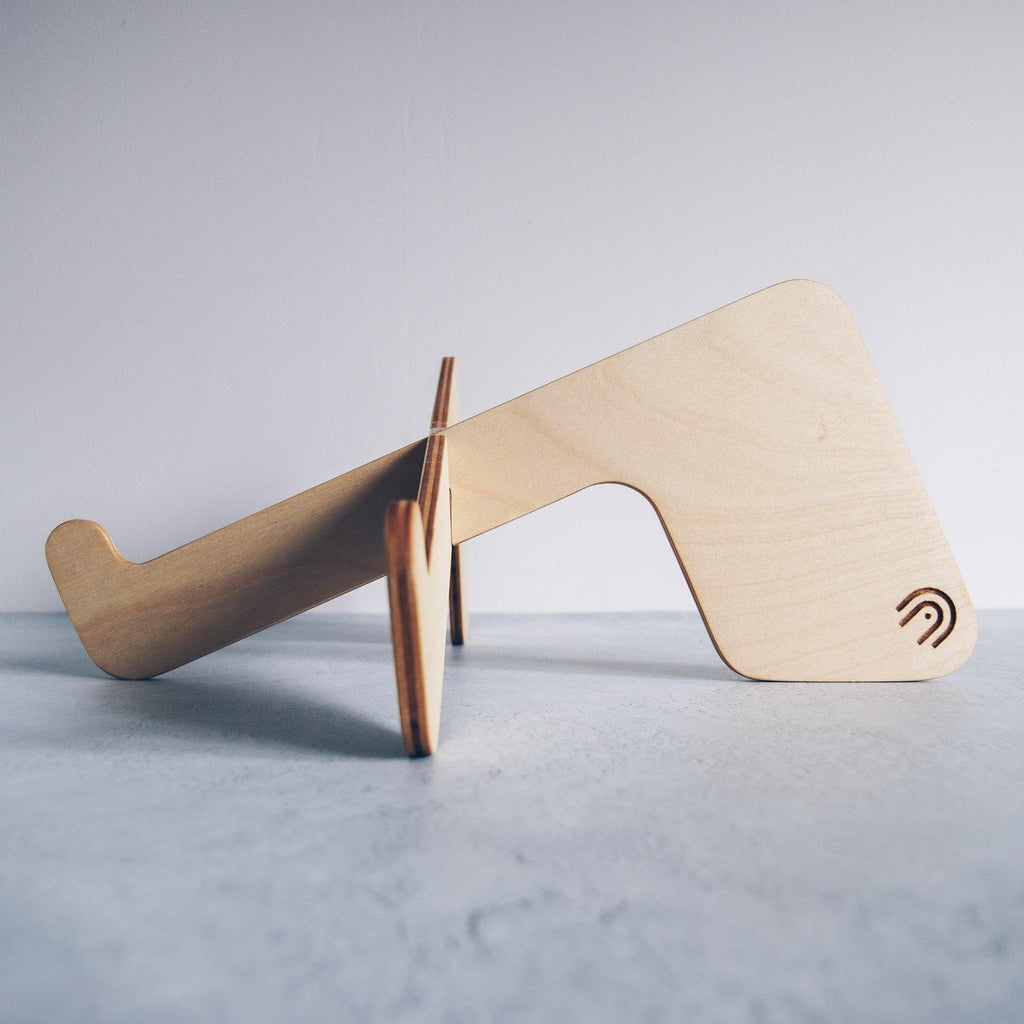 Portable Laptop Stand - Birch Wood