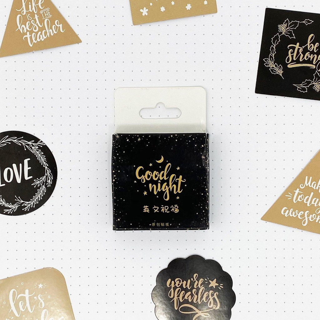 Good Night Quote Stickers - 45 Stickers