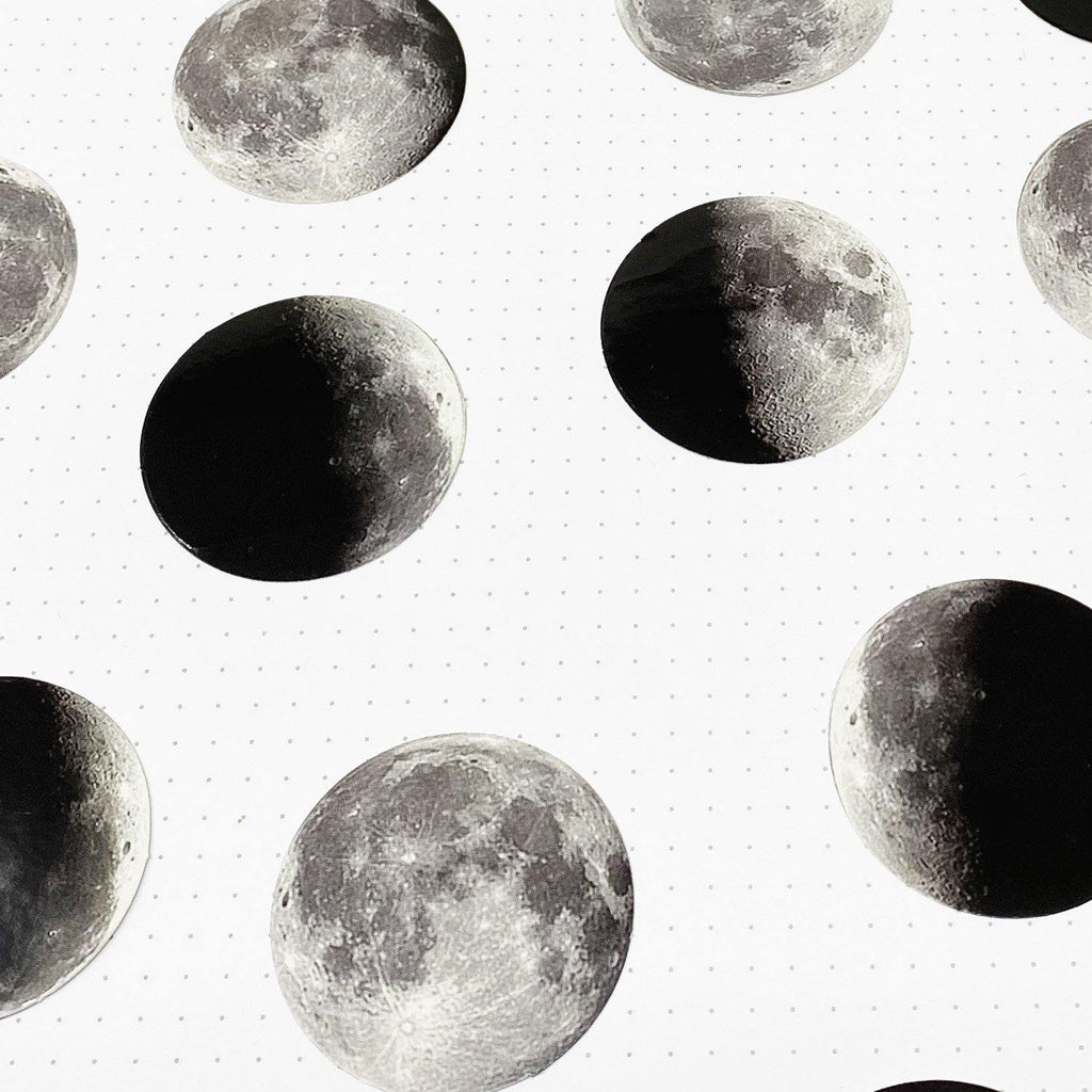 Moon Stickers - 45 Stickers
