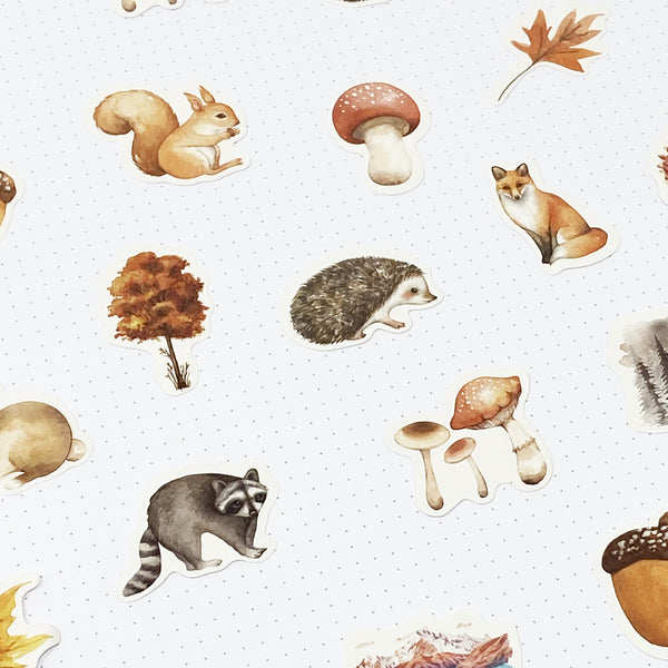 Woodland Stickers - 45 Stickers