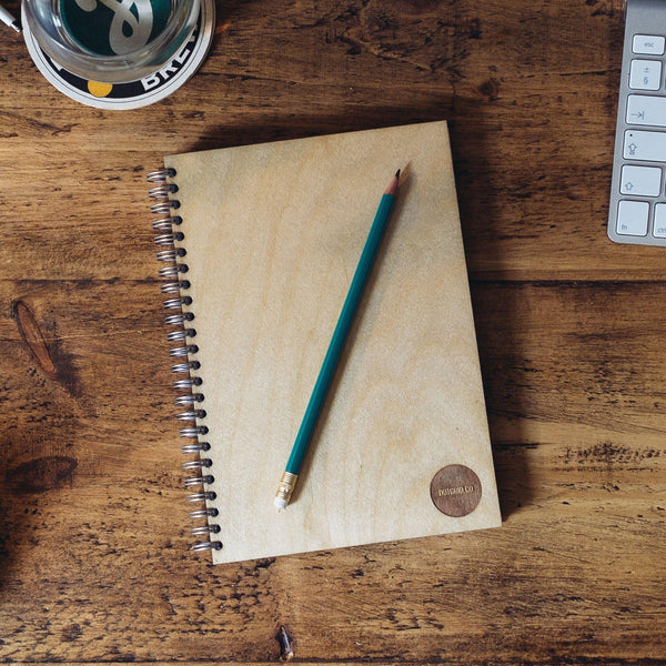 Birch Wood Dot Grid Notebook