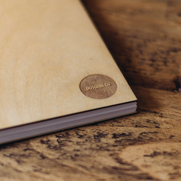 Birch Wood Dot Grid Book