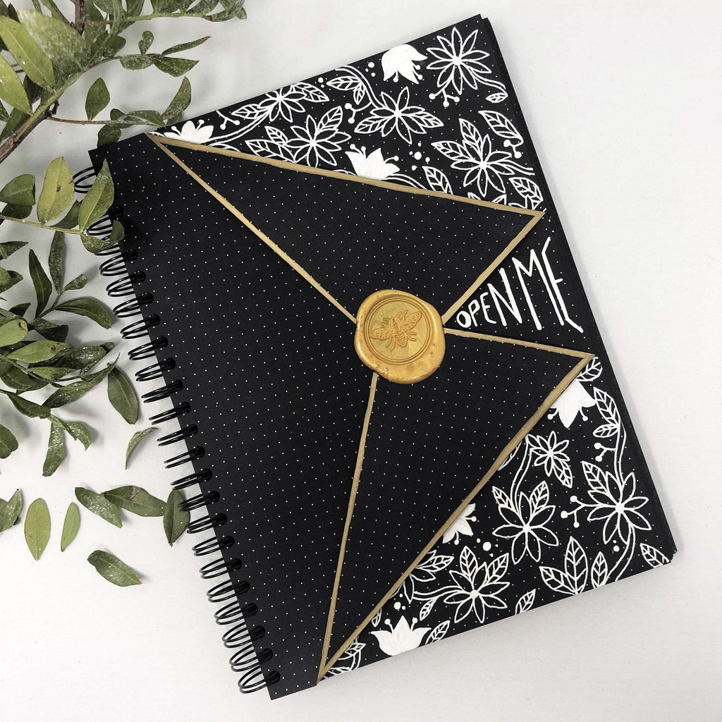 A5 Dot Grid Notebook - Black Pages