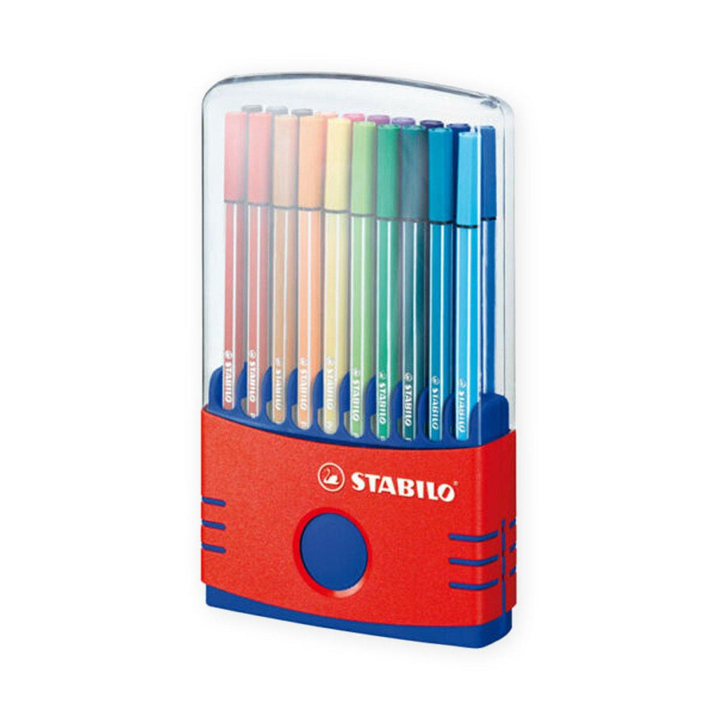 Stabilo Pen 68 1mm Fibre Tip Pens - Assorted Colours, 20 Pack
