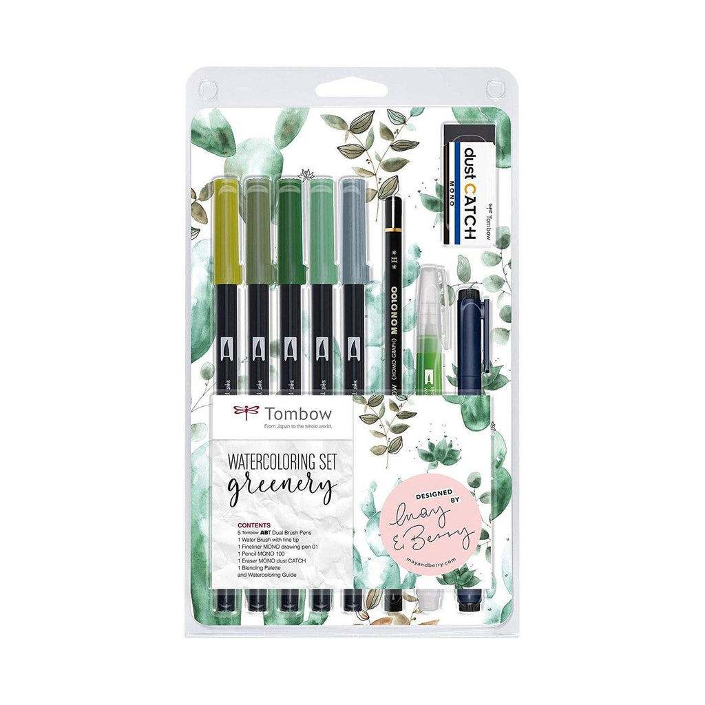 Tombow Watercolour Set - Greenery