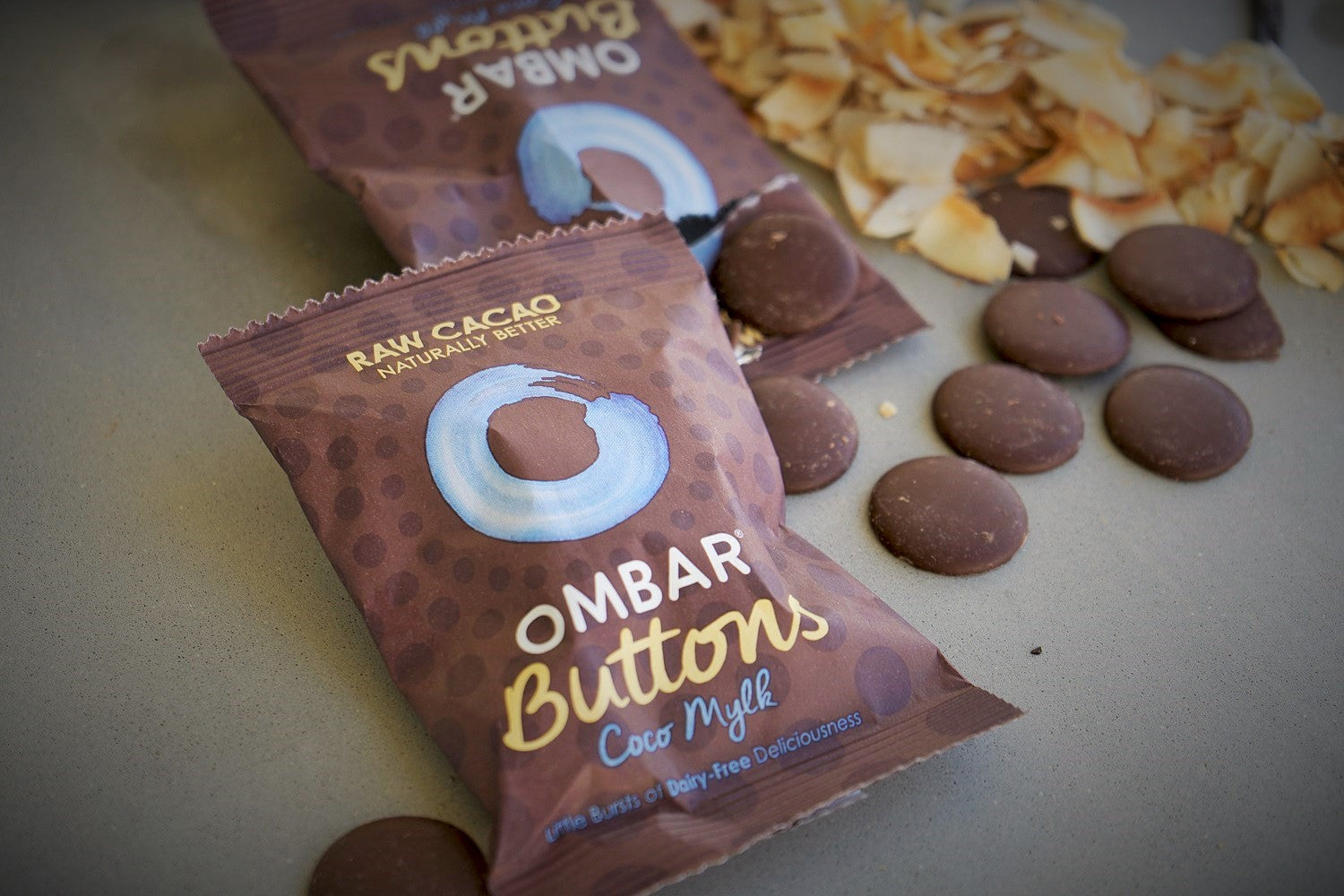 Ombar Coco Mylk Buttons in the Best Chocolate Cake