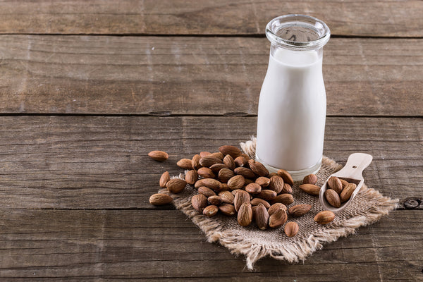 Nut mylks such as almond milk are a great dairy substitute.
