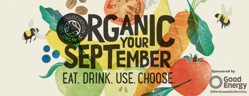 Organic September Banner - The Ombar Raw Chocolate Blog