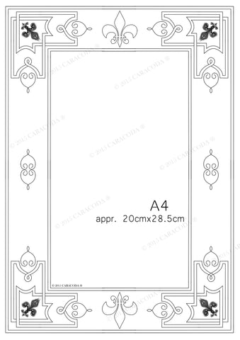 Leathercraft tooling pattern Frame A4 001