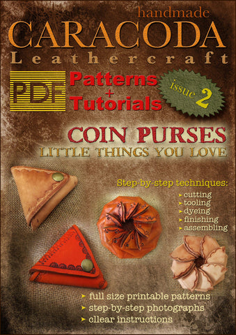 Leathercraft Patterns and Tutorials issue 2 coin purses