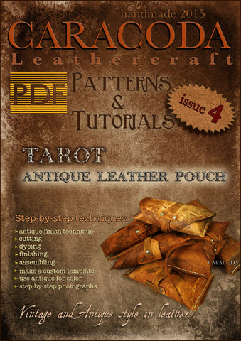 Leathercraft Patterns and Tutorials issue 4 antique Tarot case