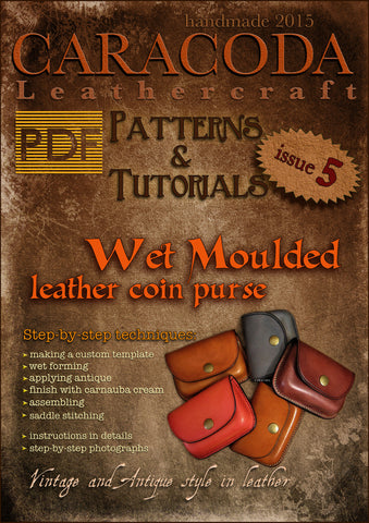 Leathercraft Patterns and Tutorials issue 5 wet moulded cases