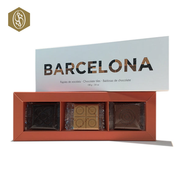 Barcelona Chocolate Tiles - 4 Cajas