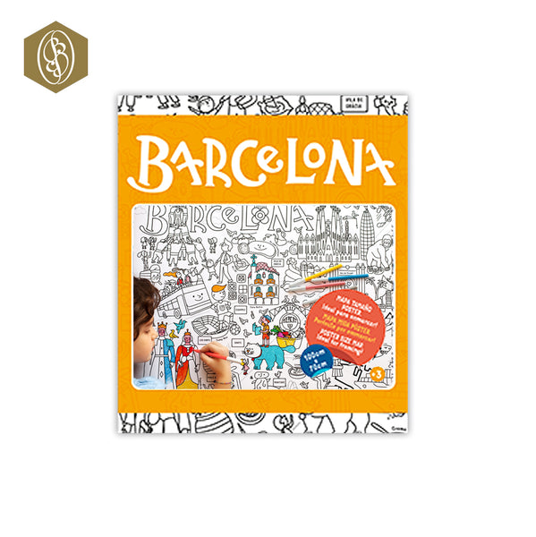 Carte de Barcelone à colorier