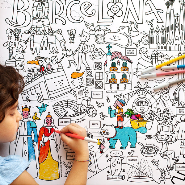 Barcelona Map for Colouring