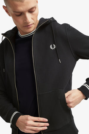 Hooded Zip Through Sweatshirt