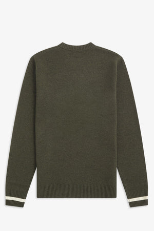 TIPPED CREW NECK JUMPER
