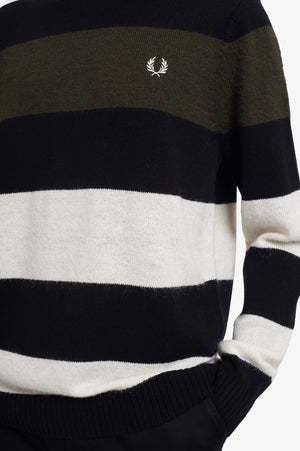 BOLD STRIPED CREW NECK JUMPER
