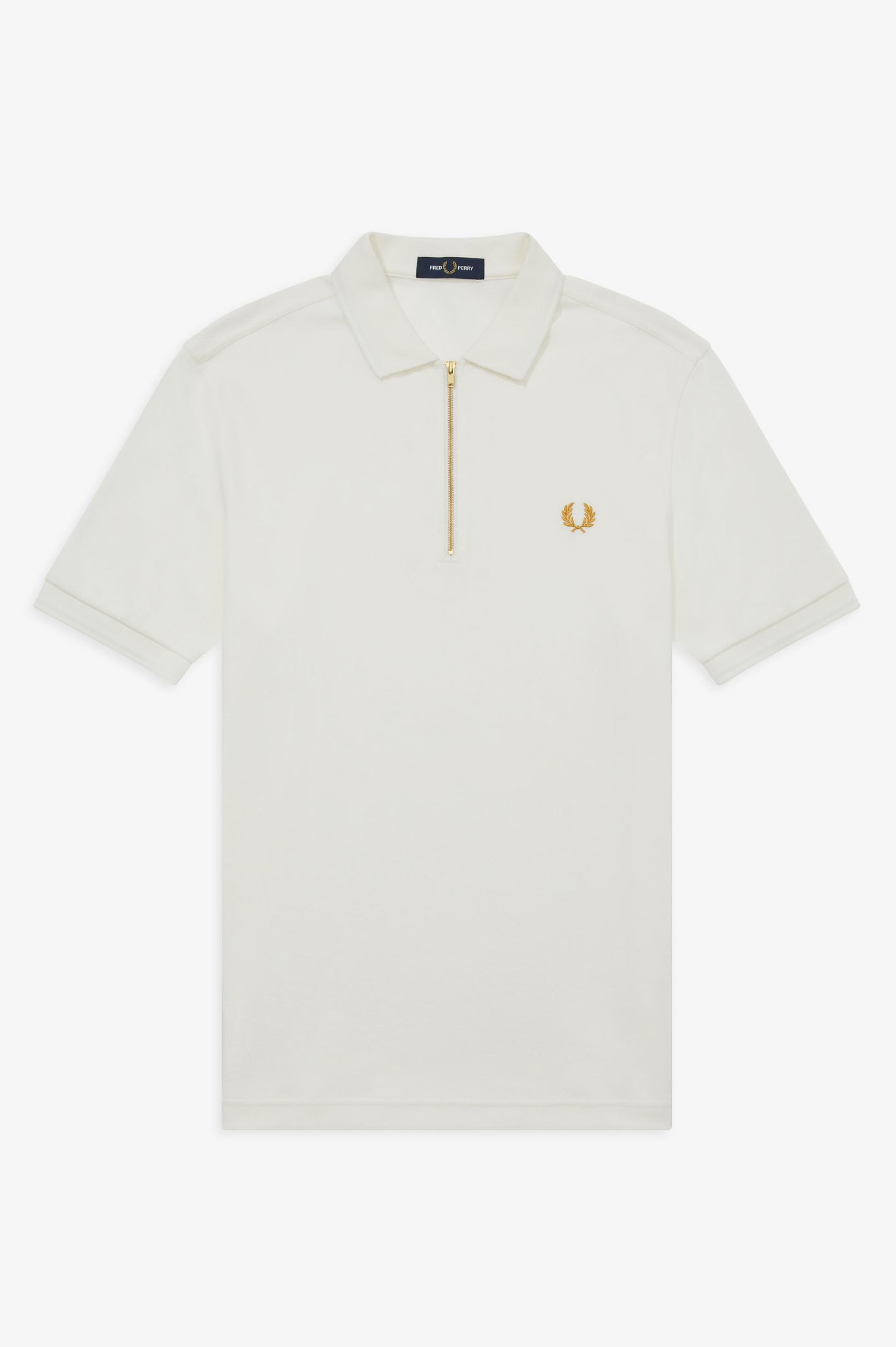 ZIP[ NECK POLO SHIRT