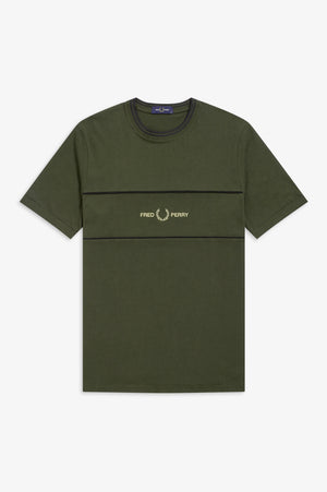 EMBROIDERED PANEL T-SHIRT