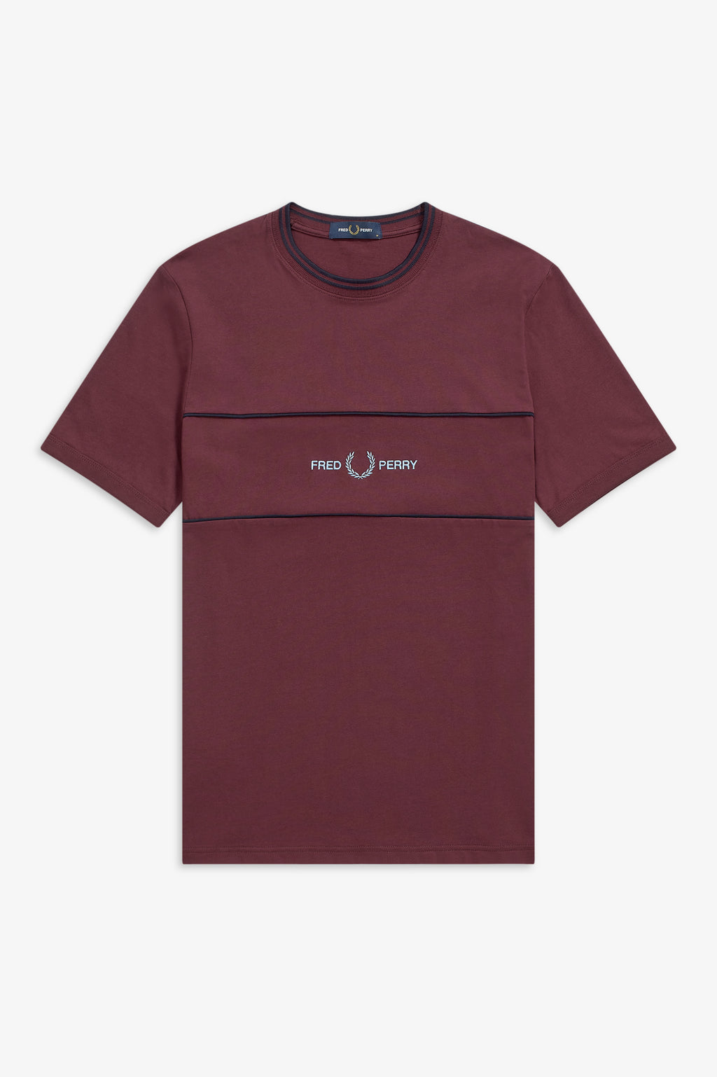 EMBROIDED PANEL T-SHIRT