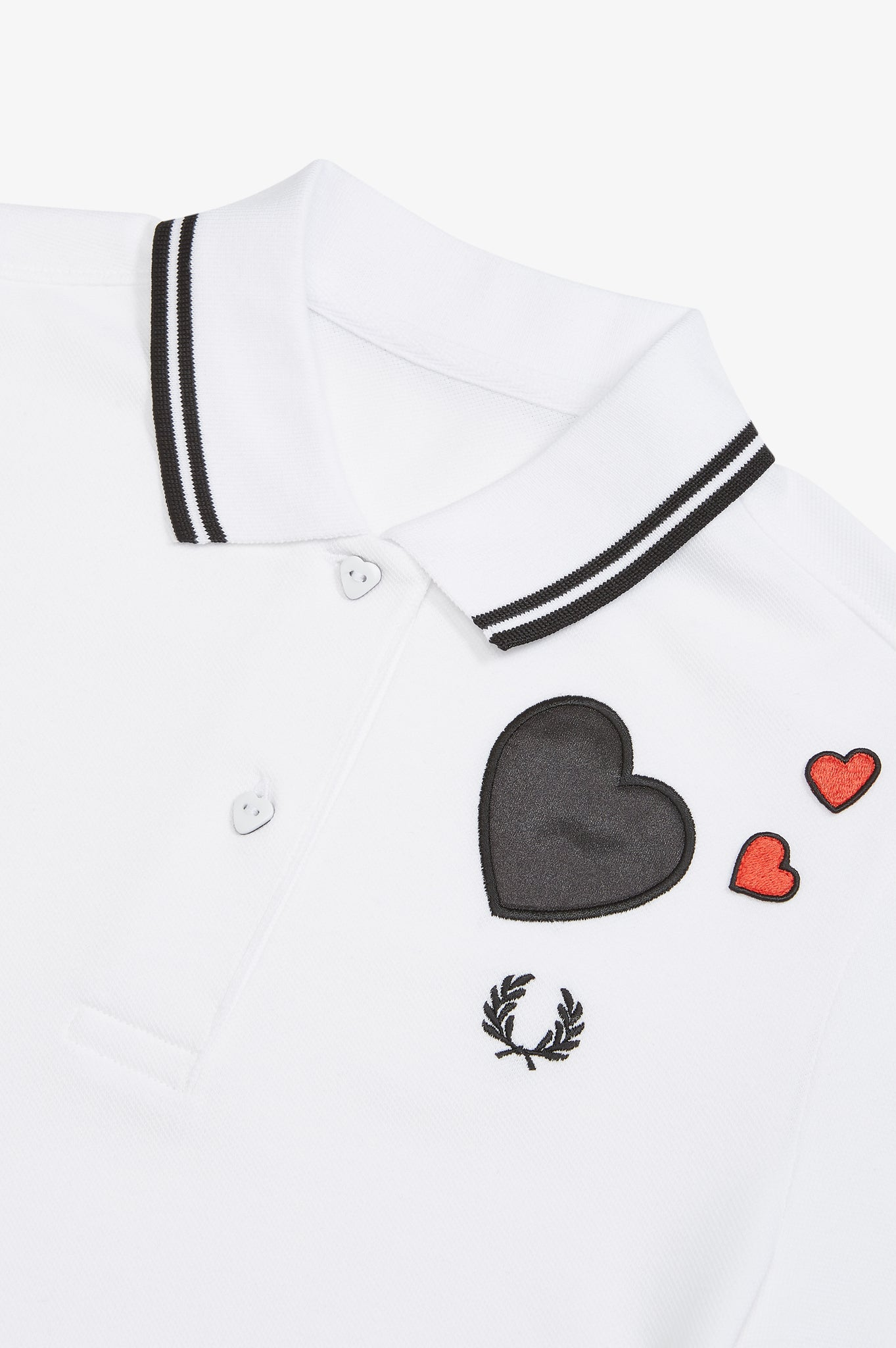 HEART DETAILED PIQUE SHIRT