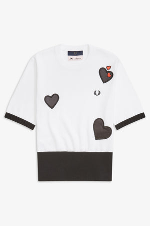 CONTRAST HEART JUMPER