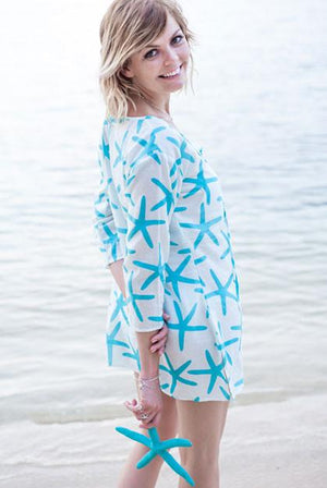 Starfish Pure Cotton Beach Tunic Cover up KV295