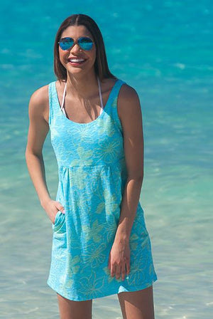 Tropical Stretch Cotton Beach Dress KV395