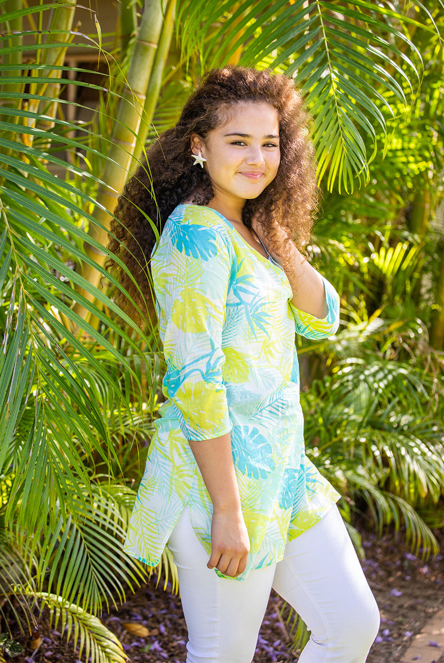 Bird of Paradise Cotton Beach Tunic Coverup KV466